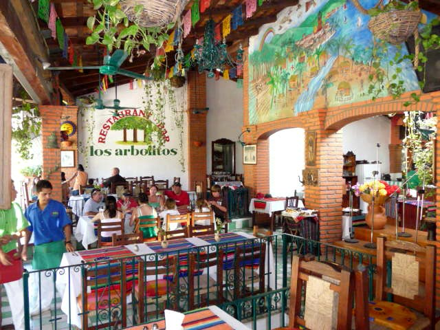 Los Arbolitos restaurant along the Cuale River